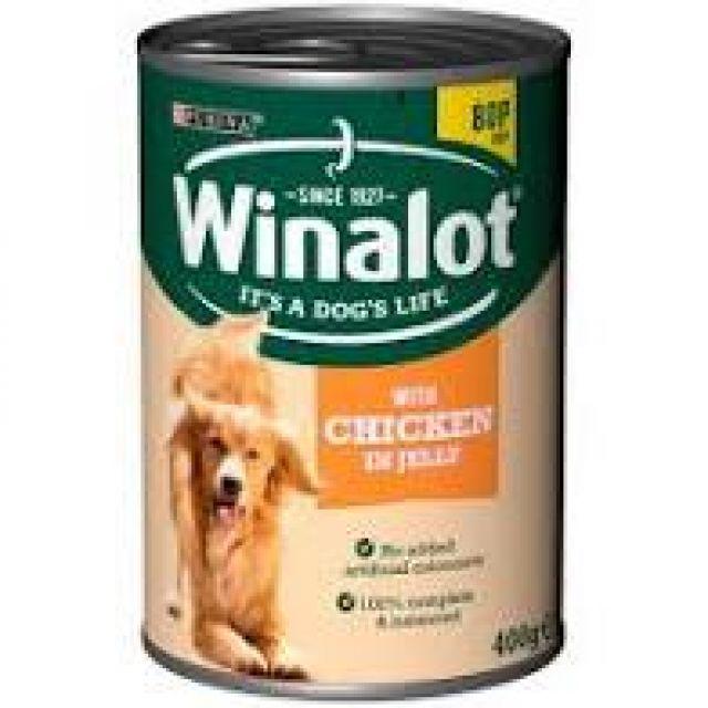Winalot Chicken in Jelly 400g Dog Tin Food