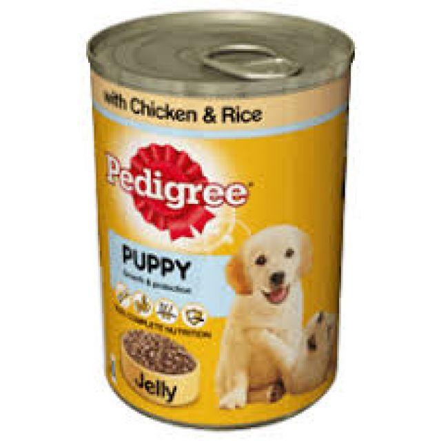 Pedigree Puppy Jelly Chicken & Rice Can