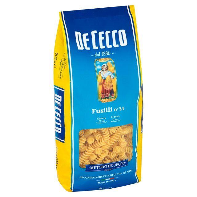 Fusilli Pasta 500g DeCecco