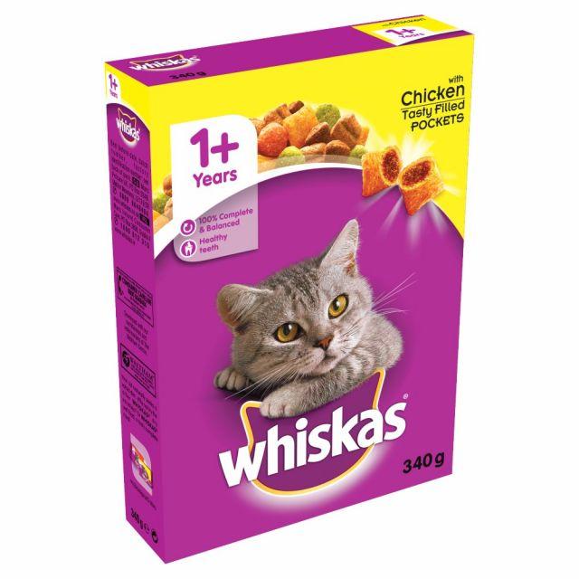 Whiska's Munchies for Cats Chicken 340g