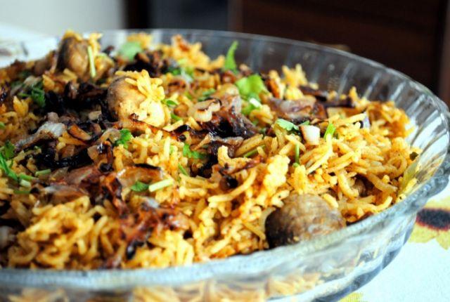 Chicken & Mushroom Biryani