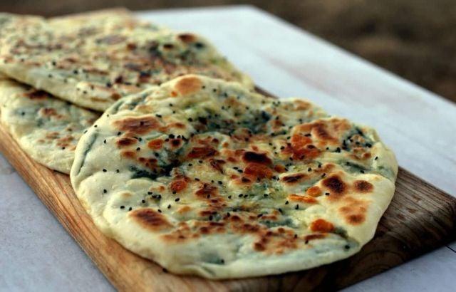 Cheese Garlic Naan Bread