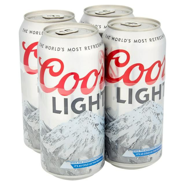 Coors Light 4 Cans Pack