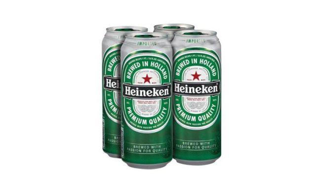 Heineken Beer 4 Cans Pack