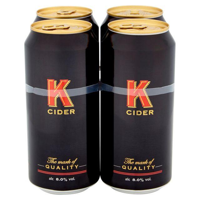 K Cider 4 Cans Pack