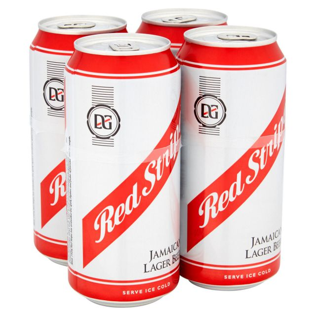 Red Stripes 4 Cans Pack