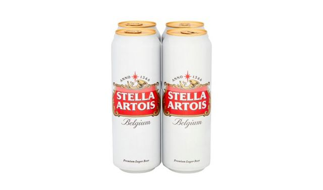 Stella Artois 4 Cans Pack