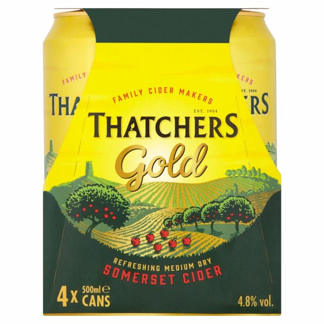 Thatcher Gold Cider 4 Cans Pack