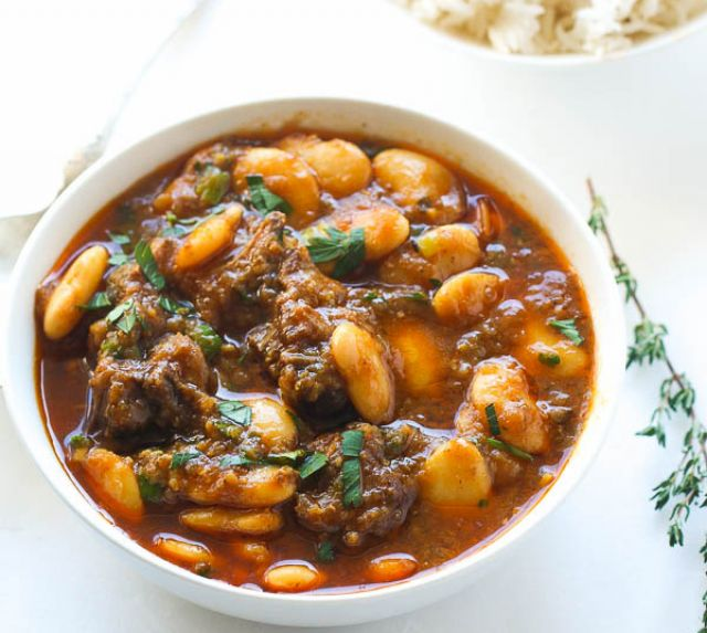 Oxtail with Beans Stew Meal
