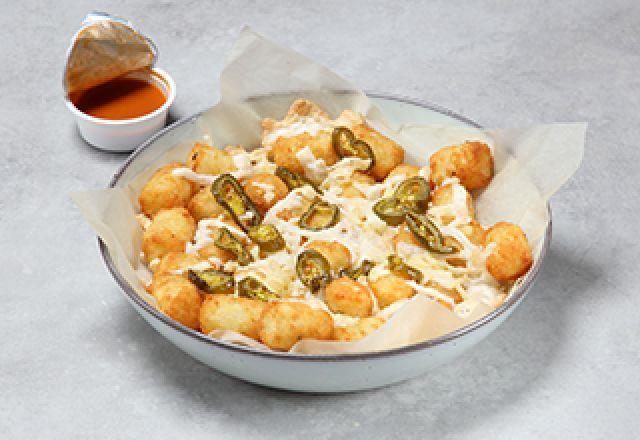 Vegan Cheese Potato Tots with Jalapeño