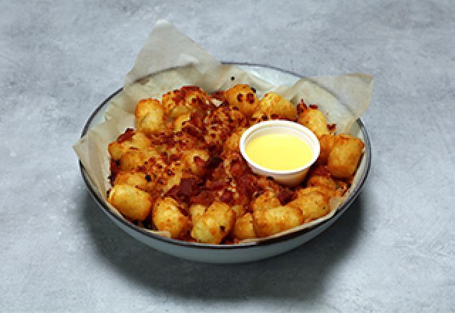 Potato Tots with Cheese & Bacon