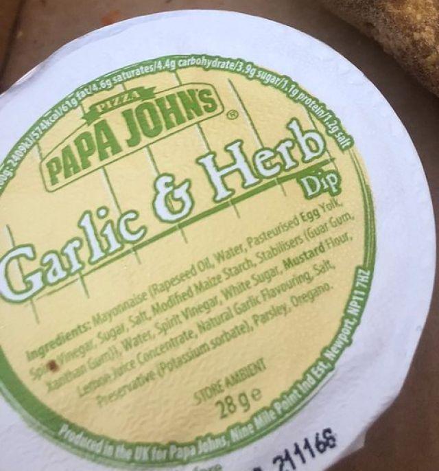 Garlic & Herb Sauce Dip