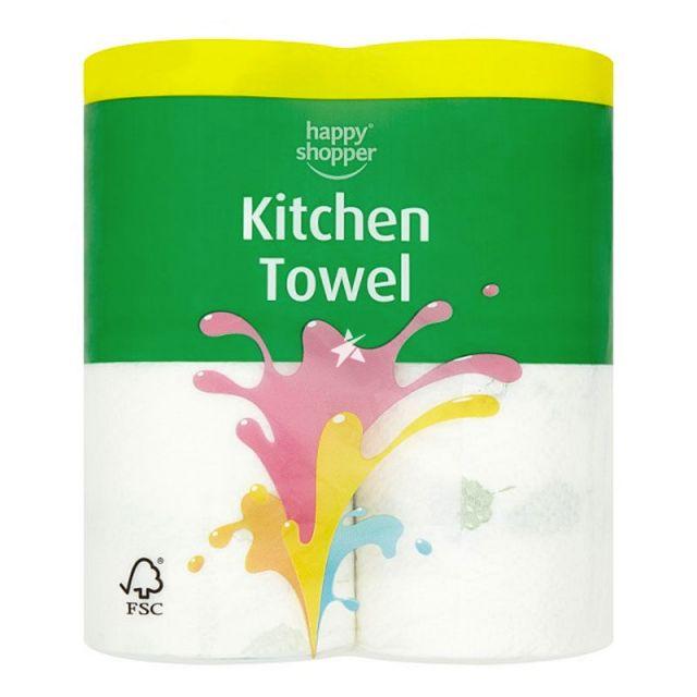 Kitchen Towels Happy Shopper 2 Rolls