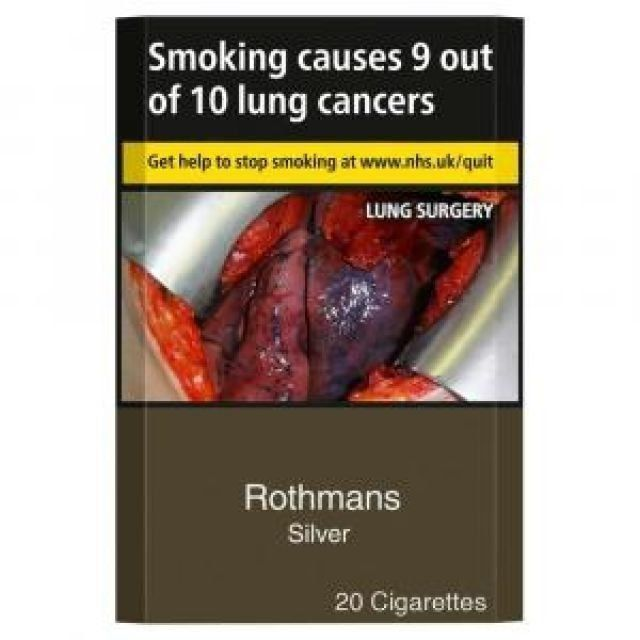Rothmans Silver KS Cigarettes