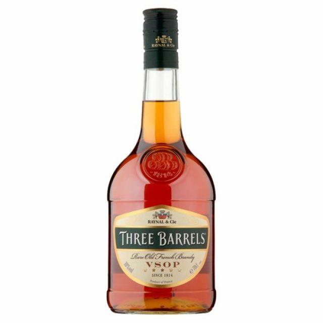 Brandy Three Barrels 70cl
