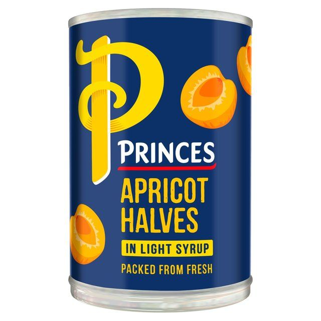 Princes Apricot Halves In Syrup Tin