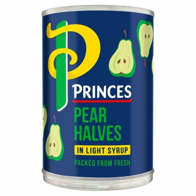 Princes Pear Halves In Syrup Tin