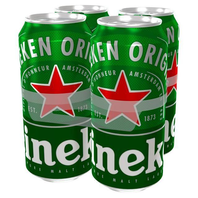 Heineken Beer 4 x 500ml Cans