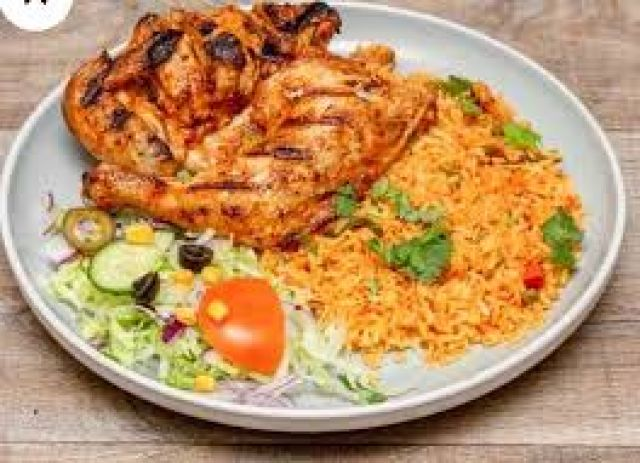 Peri Peri Baby Chicken 1/2 & Rice