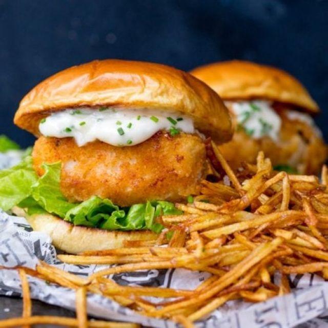 1/4 Fish Fillet Burger