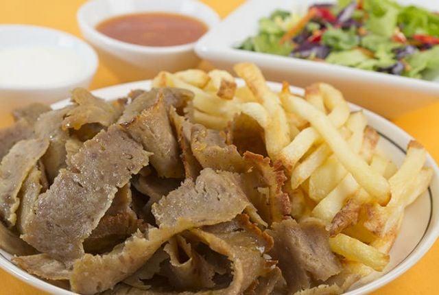 Lamb Doner Meat on Chips