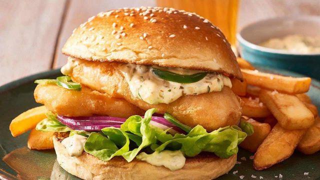 1/2 Fish Fillet Burger