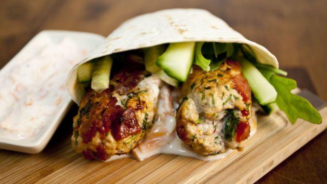 Chicken Kofte Wrap