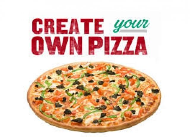 Build Your Own Pizza- Any 4 Toppings