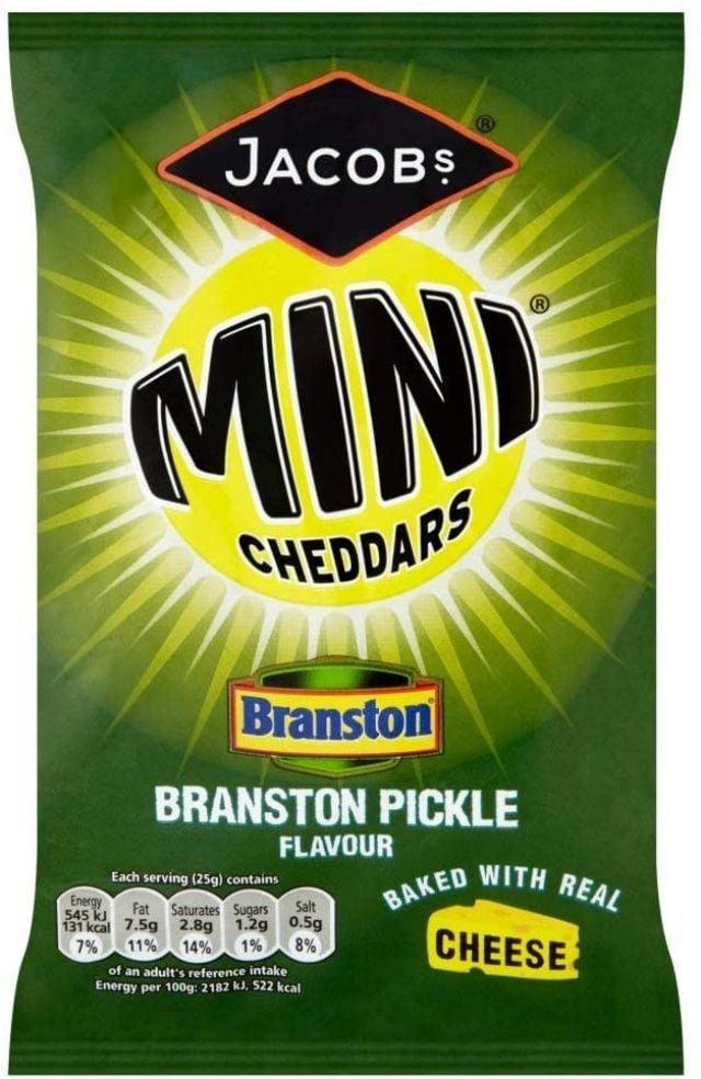 Jacobs Mini Cheddars Branston Pickle