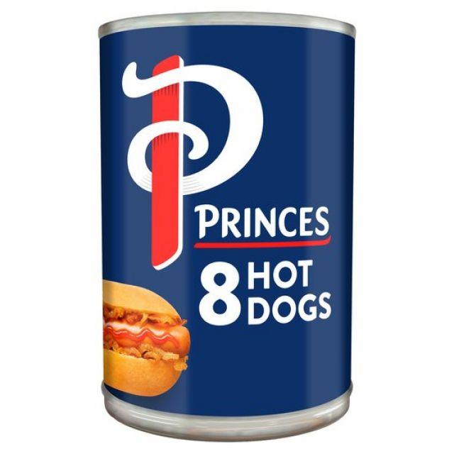 Princes Tin 8 Hot Dogs