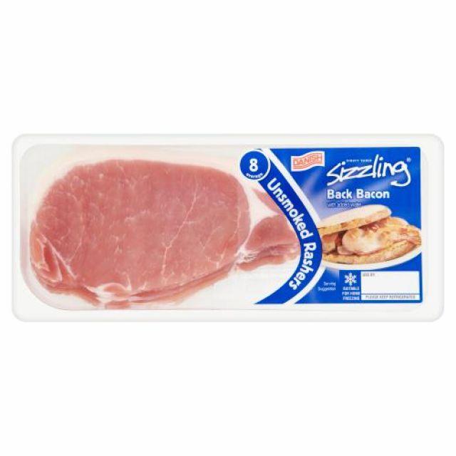 Sizzling Unsmoked Back Bacon 8 Rashers
