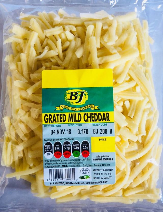 BJ Grated Mild Cheese