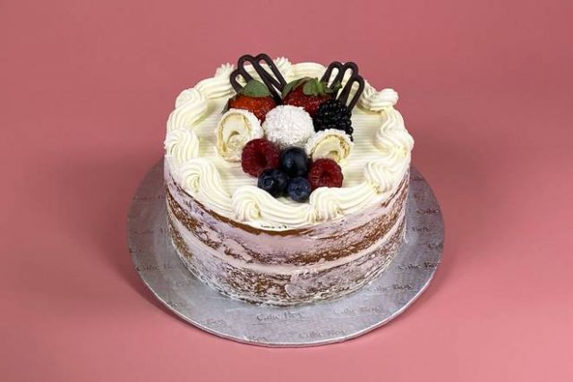 """UR011 6"""" Victoria Style Naked Berry Cake"""