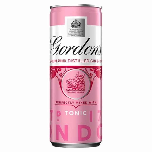 Gin Gordon's  Pink Mixed With Tonic Can