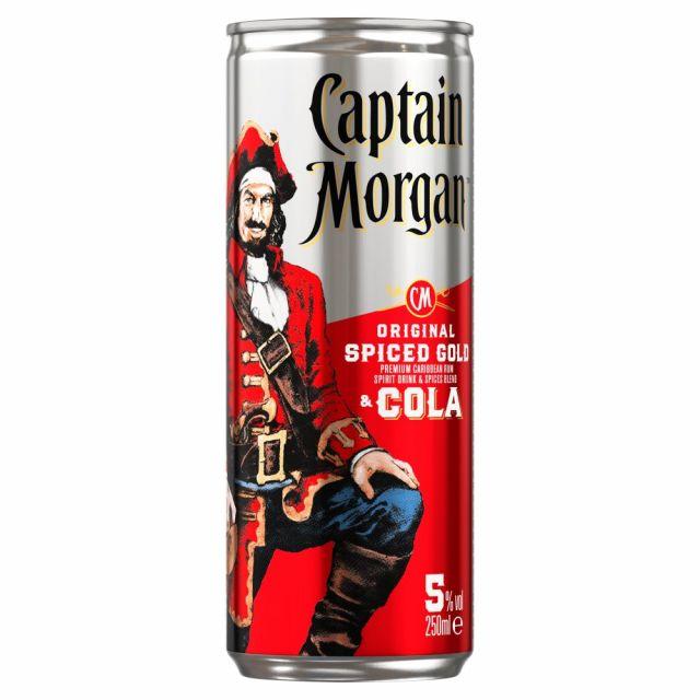 Rum Captain Morgan Original Spiced Gold & Cola Can