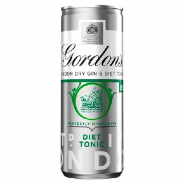 Gin Gordon's & Diet Tonic Can