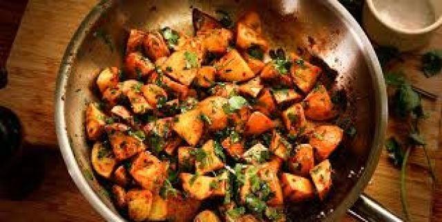 Batata Harra & Fried Vegetables