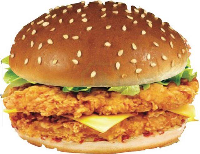 Double Zinger Chicken Burger
