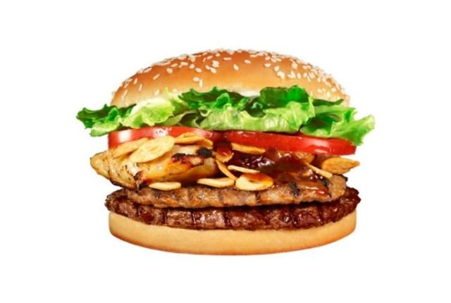 Combo Burger With Strips