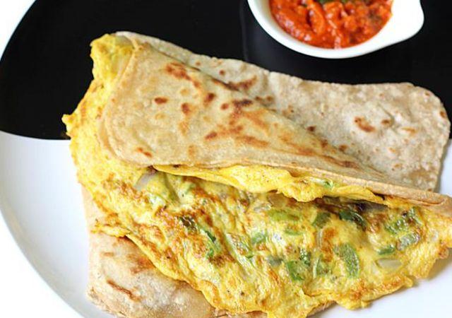 Punjabi Omelette and Paratha