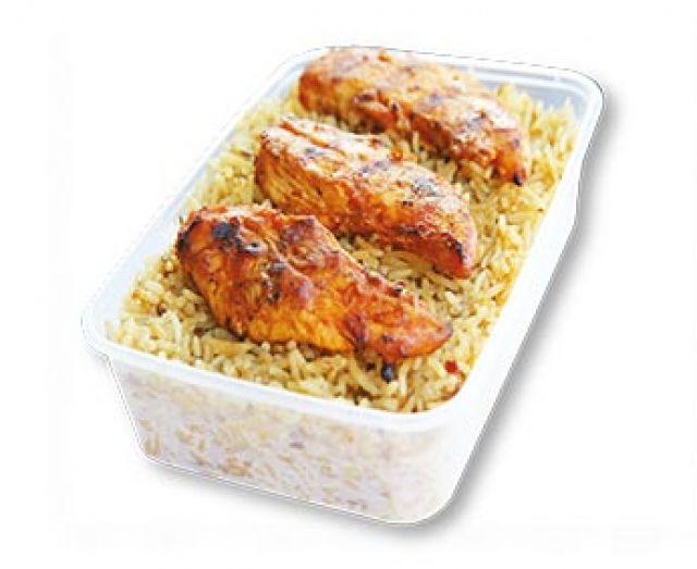 Peri Peri Strips & Rice