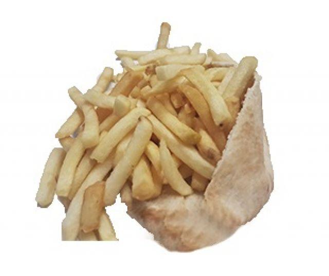 Chips & Salad in Pitta Bread