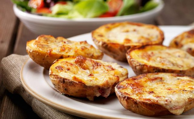 Potato Skins with Cheese