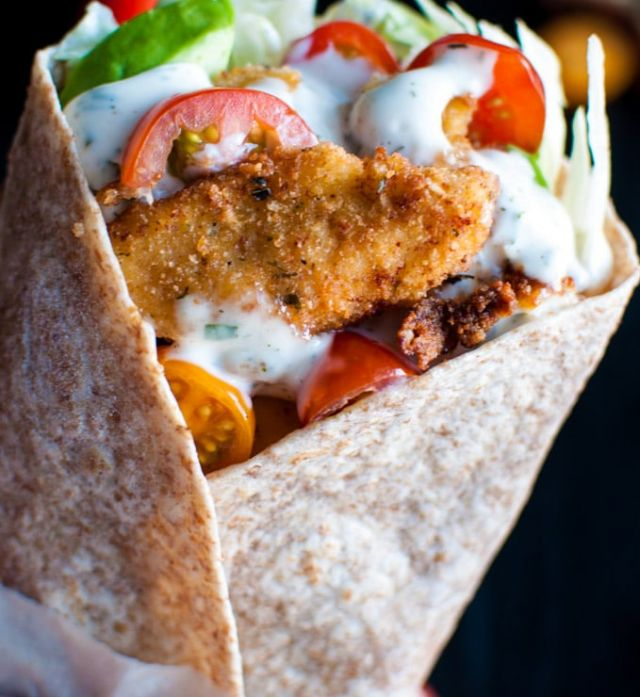 Southern Fried Chicken Wrap - Meal