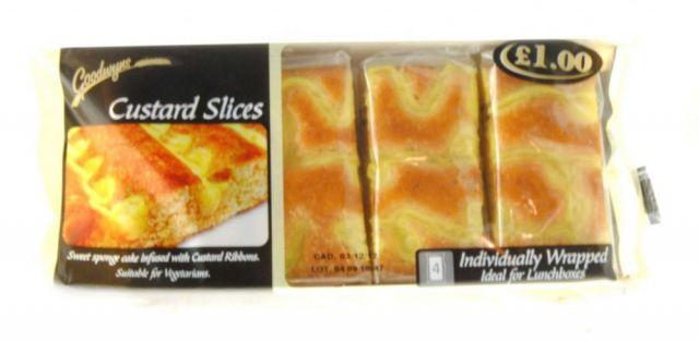 Custard Sponge Cake Slices Goodwyns