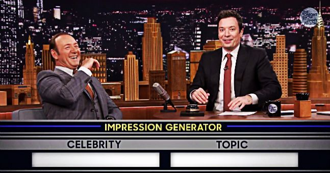 Jimmy Fallon vs Kevin Spacey In An Epic Voice-Off