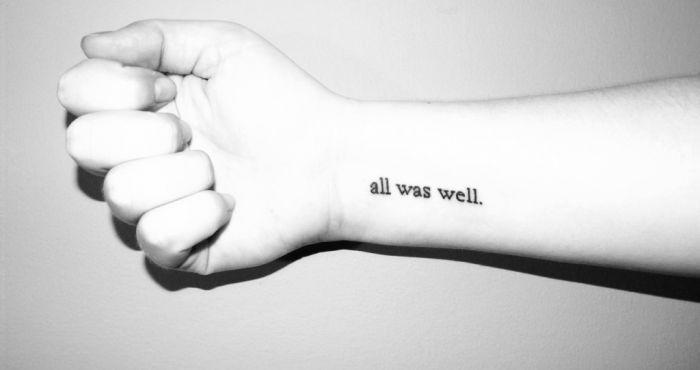 31 Tiny Quote Tattoos You'll Go Crazy For | CollegeTimes com