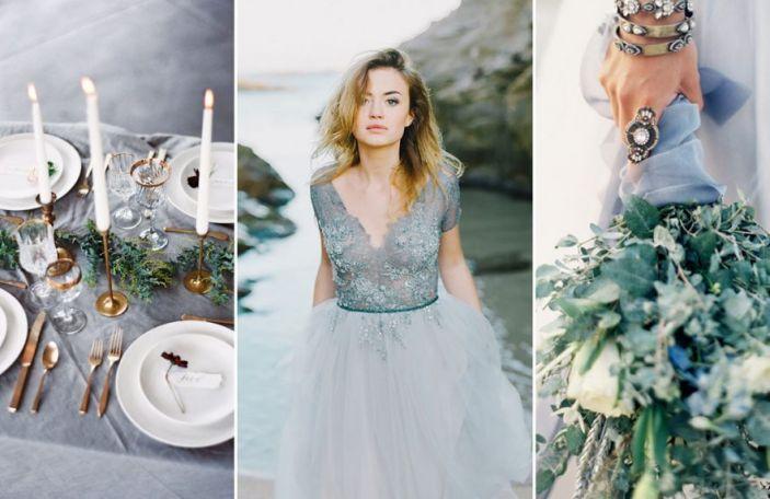 Something Blue: Fab slate blue wedding details