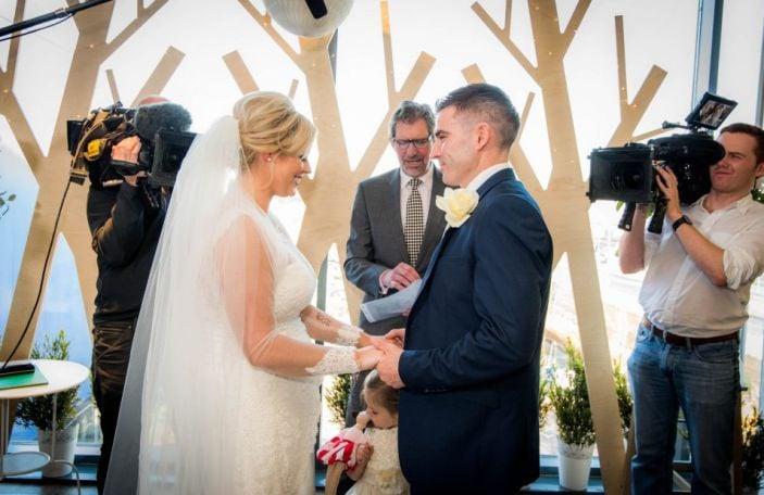 Watch: a Dublin bride's reaction when she realises her wedding is in IKEA
