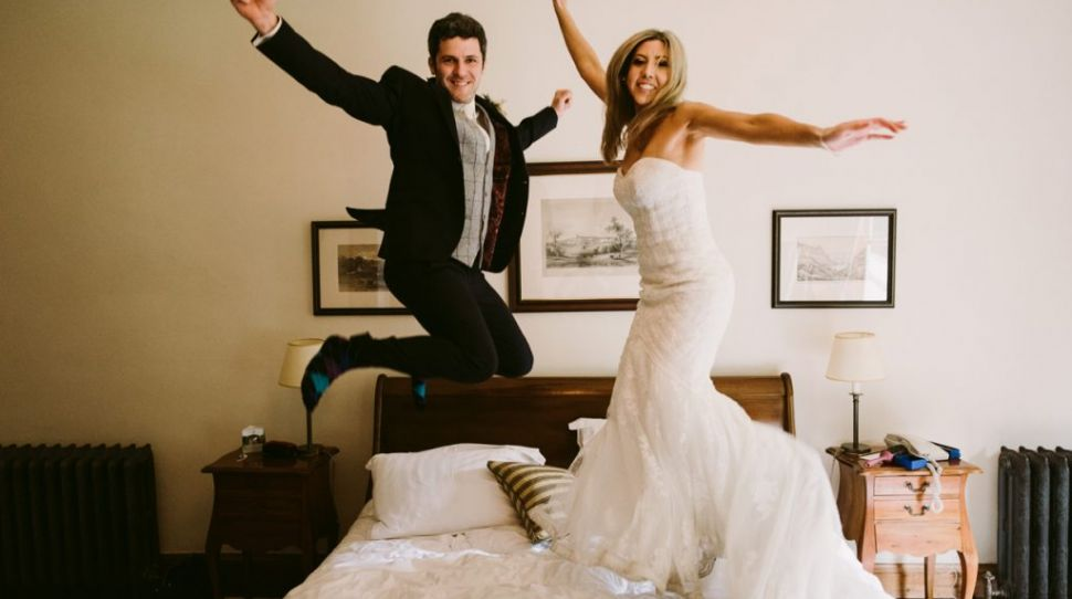 Laura and David's Jewish wedding at Mount Falcon Estate, planned from Australia